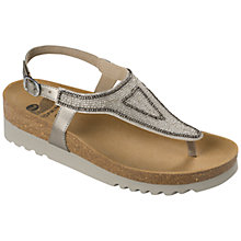 Buy Scholl Aida Beaded Toe Post Sandals, Metallic Online at johnlewis.com