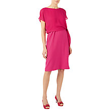 Buy Jacques Vert Crepe Chiffon Tie Side Dress, Bright Pink Online at johnlewis.com