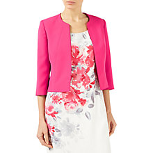 Buy Jacques Vert Styled Crepe Edge To Edge Jacket, Bright Pink Online at johnlewis.com