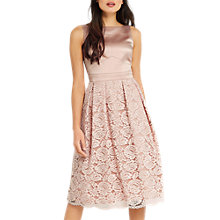 Buy Oasis 2 In 1 Satin Bodice Midi Dress, Dusky Pink Online at johnlewis.com
