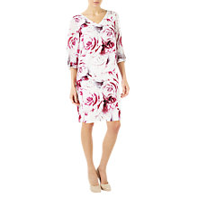 Buy Jacques Vert Rose Print Tunic Dress, Pink/Multi Online at johnlewis.com