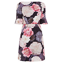 Buy Oasis Springbloom Flute Sleeve Dress, Mid Neutral Online at johnlewis.com