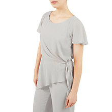 Buy Jacques Vert Asymmetric Tie Side Top, Mid Grey Online at johnlewis.com