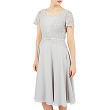 Buy Jacques Vert Delicate Lace Soft Dress, Mid Grey Online at johnlewis.com