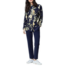 Buy Warehouse Patterned Wisteria Floral Shirt, Blue Pattern Online at johnlewis.com
