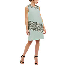 Buy Jaeger Lace Panel A-Line Dress, Baby Blue Online at johnlewis.com