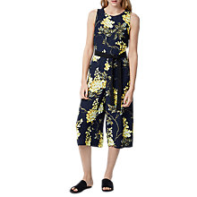 Buy Warehouse Wisteria Print Jumpsuit, Multi Online at johnlewis.com