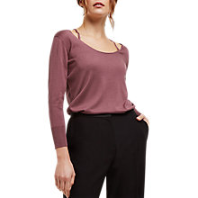 Buy Jaeger Silk-Cashmere Jumper, Dark Rose Online at johnlewis.com