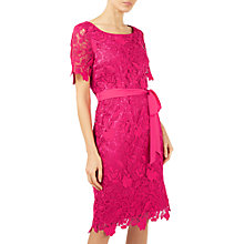 Buy Jacques Vert Floral Lace Shift Dress, Bright Pink Online at johnlewis.com