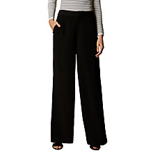 Buy Karen Millen Wide Fluid Tailored Trousers, Black Online at johnlewis.com