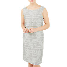 Buy Jacques Vert Burnout Stripeshel Dress, Mid/Grey Online at johnlewis.com