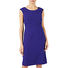 Buy Jacques Vert Scallop Layered Dress, Mid Blue Online at johnlewis.com