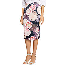 Buy Oasis Springbloom Pencil Skirt, Multi Online at johnlewis.com