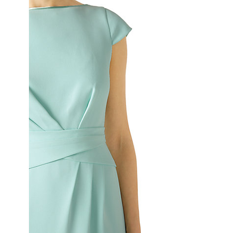 Buy Jacques Vert Body Detail Crepe Dress, Pastel Green Online at johnlewis.com