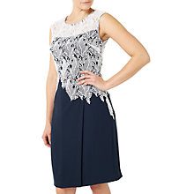 Buy Jacques Vert Leaf Lace Crepe Dress Online at johnlewis.com