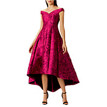 Buy Coast Alloway Jacquard High Low Dress, Pink Online at johnlewis.com