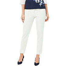 Buy Jacques Vert Jacquard Trousers, Light Neutral Online at johnlewis.com