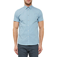 Buy Ted Baker Lee Diamond Jacquard Shirt, Light Blue Online at johnlewis.com