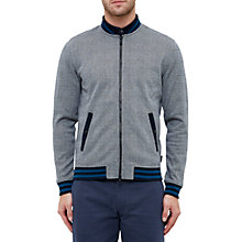 Buy Ted Baker Qwean Checked Bomber Jacket, Grey Online at johnlewis.com
