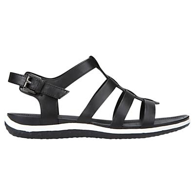 Geox Vega Leather Sandals, Black
