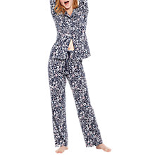 Buy Joules Astrid Ditsty Floral Print Pyjama Set, Navy/Multi Online at johnlewis.com