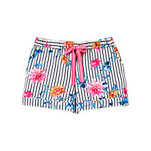 Buy Joules Tali Clematis Pyjama Shorts, Cream/Multi Online at johnlewis.com
