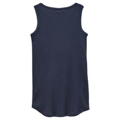 Joules Lull Ribbed Pyjama Vest Top, Navy