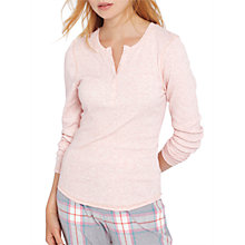 Buy Joules Dormi Long Sleeve Ribbed Henley Top, Pink Online at johnlewis.com