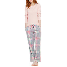 Buy Joules Snooze Check Pyjama Bottoms, Grey/Multi Online at johnlewis.com