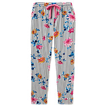 Buy Joules Snooze Clematis Pyjama Bottoms, Cream/Multi Online at johnlewis.com