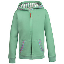 Buy Fat Face Girls' Graphic Zip Through Hoodie, Green Online at johnlewis.com