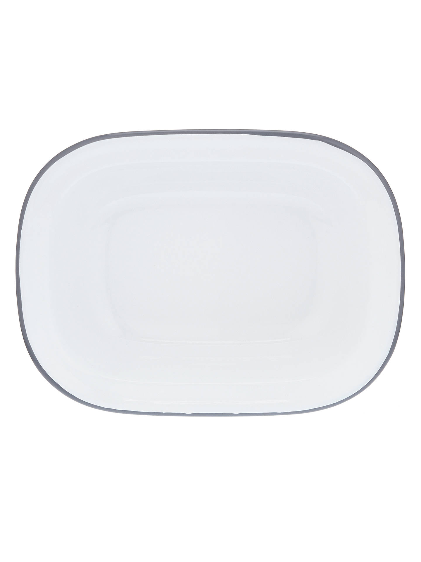 Buy John Lewis & Partners Enamel Oven Pie Dish, White/Grey, 20cm Online at johnlewis.com