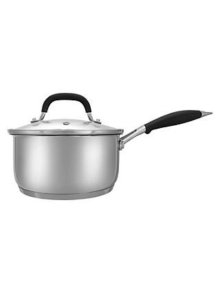 John Lewis & Partners 'The Pan' Stainless Steel Saucepan With Lid, Silver