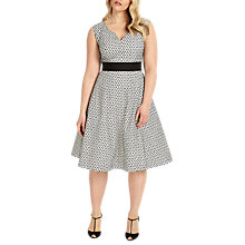 Buy Studio 8 Celeste Dress, Black/White Online at johnlewis.com