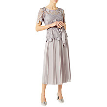 Buy Jacques Vert Placement Pleat Midi Skirt, Mid Grey Online at johnlewis.com