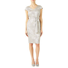 Buy Jacques Vert Subtle Jacquard Floral Dress, Mid Grey Online at johnlewis.com
