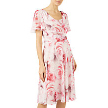 Buy Jacques Vert Soft Rose Print Dress, Multi/Pink Online at johnlewis.com