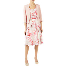 Buy Jacques Vert Angled Edge To Edge Jacket, Pastel Pink Online at johnlewis.com