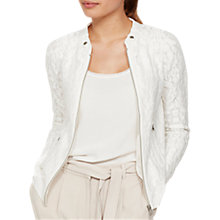 Buy Mint Velvet Embroidered Cardigan, Cream Online at johnlewis.com