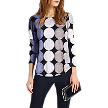 Buy Phase Eight Savi Spot Top, Grey/Blue Online at johnlewis.com