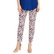 Buy Phase Eight Erica Floral Jacquard Trousers, Multi Online at johnlewis.com