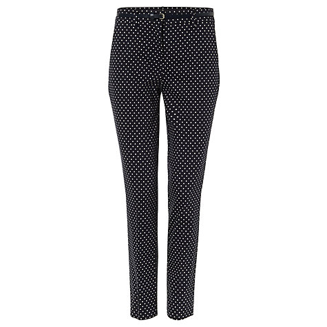 Buy Phase Eight Libby Spot Print Trousers, Navy/Ivory Online at johnlewis.com