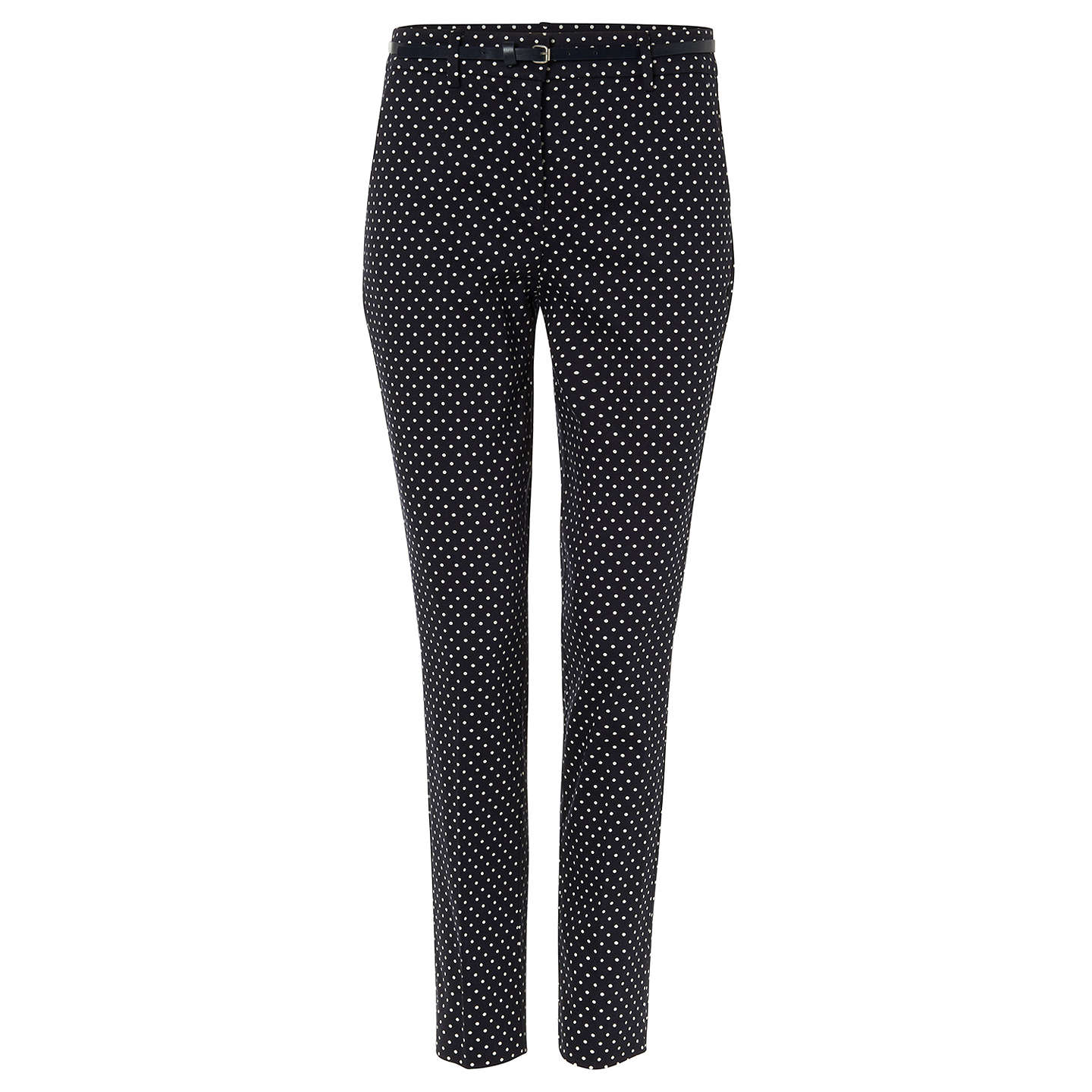 BuyPhase Eight Libby Spot Print Trousers, Navy/Ivory, 10 Online at johnlewis.com