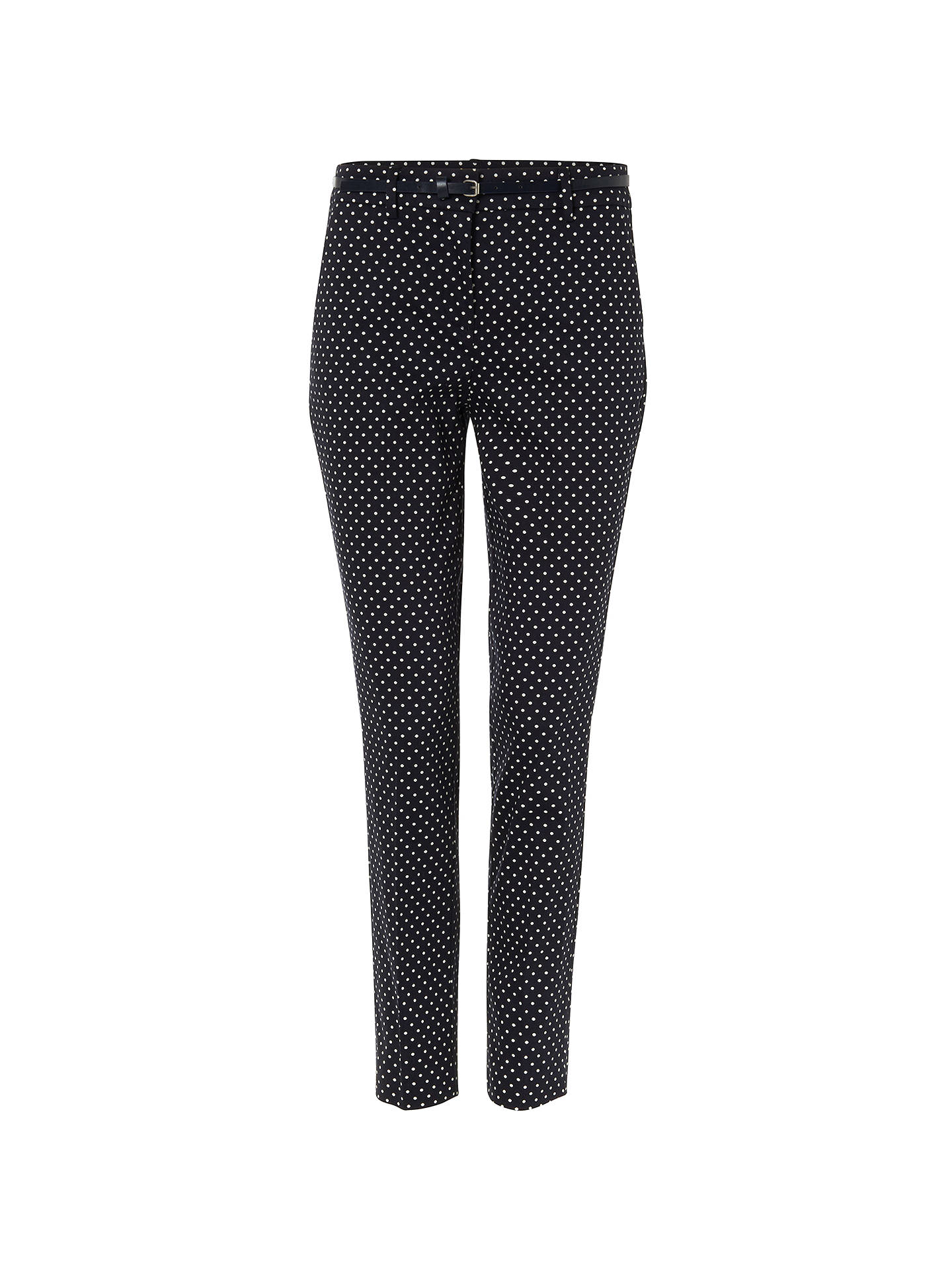 BuyPhase Eight Libby Spot Print Trousers, Navy/Ivory, 8 Online at johnlewis.com