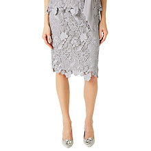 Buy Jacques Vert Floral Lace Pencil Skirt, Mid Grey Online at johnlewis.com