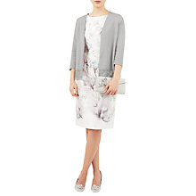 Buy Jacques Vert Lace Trim Cardigan, Mid Grey Online at johnlewis.com