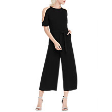 Buy Oasis Cold Shoulder Jumpsuit, Black Online at johnlewis.com