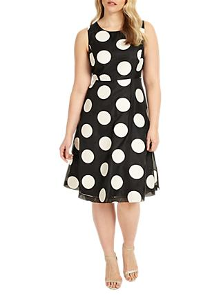 Studio 8 Iris Dress, Black/Ivory