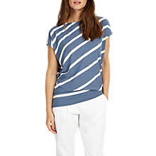 Buy Phase Eight Amy Asymmetric Stripe Top Online at johnlewis.com