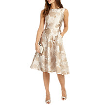 Buy Phase Eight Danica Jacquard Dress, Cream Online at johnlewis.com